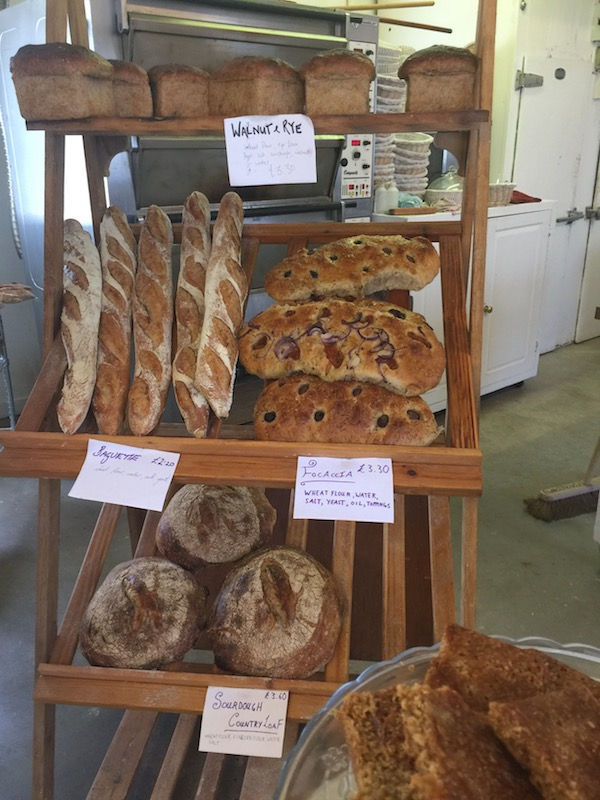 There are always favourites on the rack; sourdough, baguettes and foccacia - and salt caramel flapjack. Mmm...