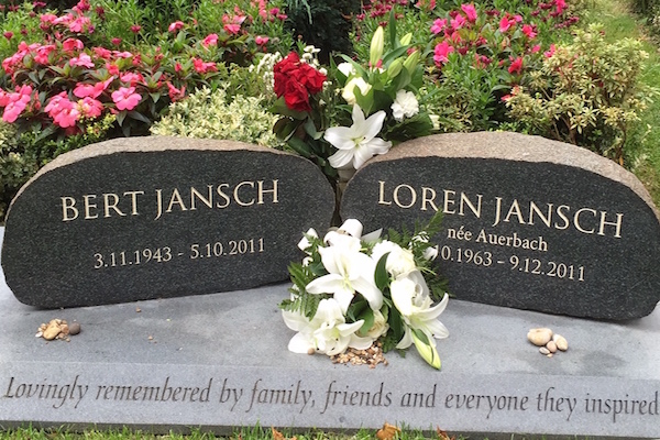 Tim carved the gravestone to mark where legendary songwriter and guitarist, Bert Jansch is buried in Highgate Cemetery.