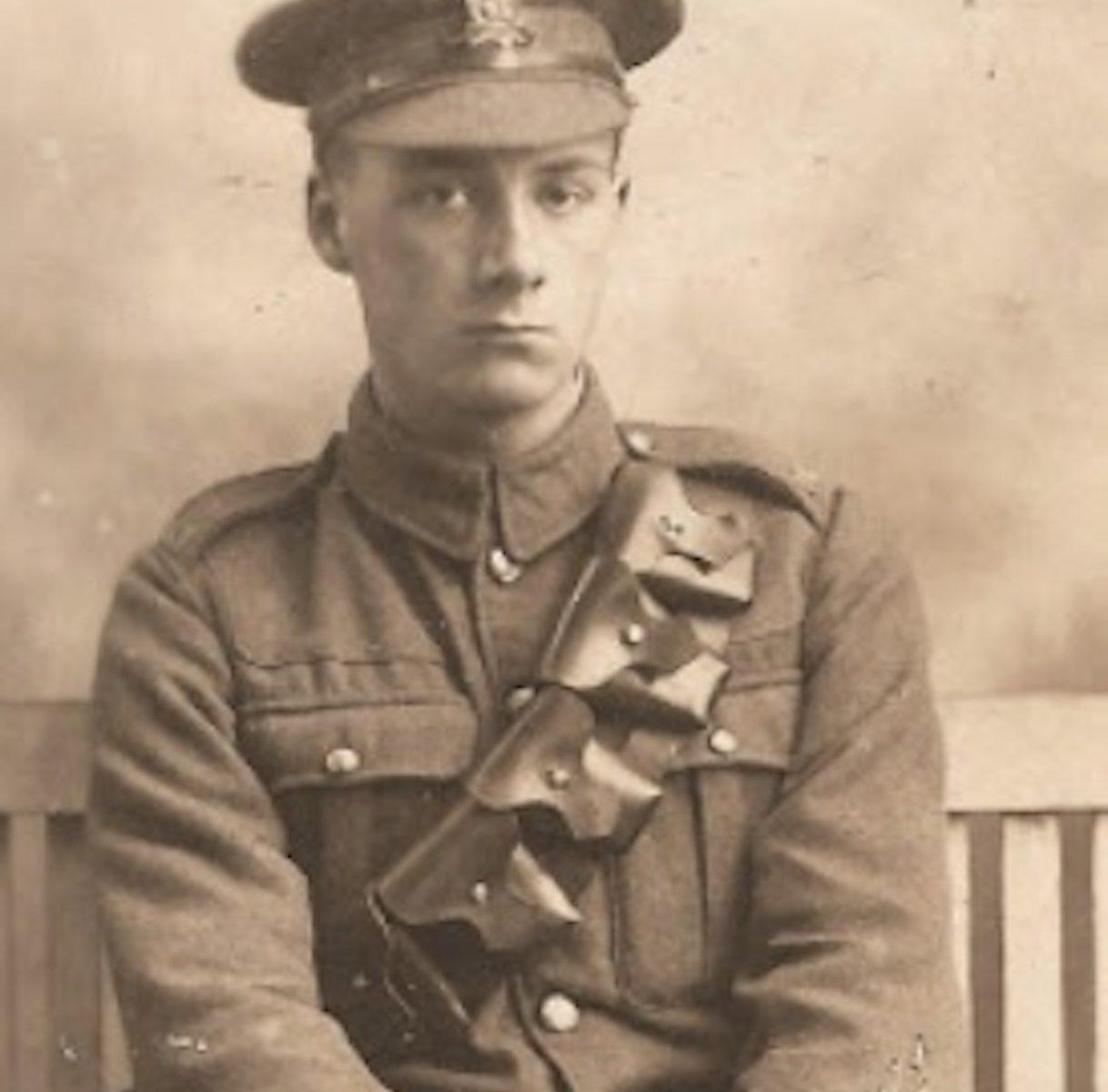 Gunner Graham in RGA uniform before he was mobilised
