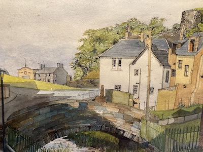 The Boo-backit Brig, Strathaven painted in the 1960s